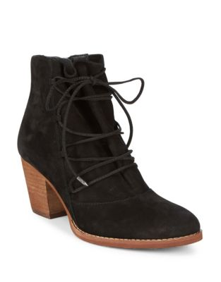 Suede Lace-Up Booties by Sam Edelman