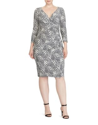 Plus Pull-On Printed Jersey Dress by Lauren Ralph Lauren