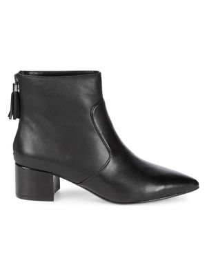 Maude Leather Booties by Karl Lagerfeld Paris