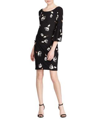 Plus Floral Sheath Dress by Lauren Ralph Lauren