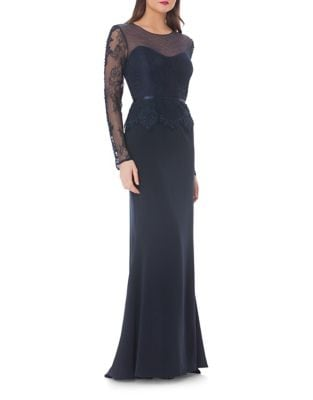 Illusion Mermaid Gown by JS Collections