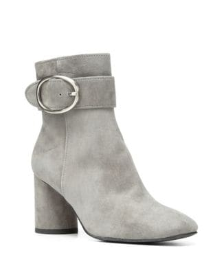 Gabe Ankle Strap Suede Booties by Donald J Pliner