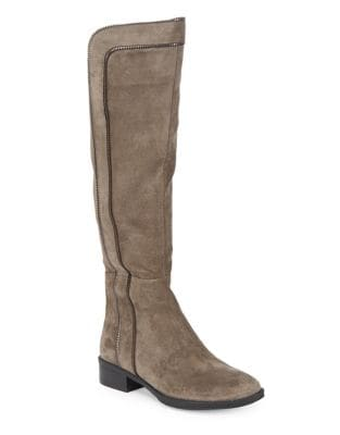 Mimi Suede Knee-High Boots by Karl Lagerfeld Paris