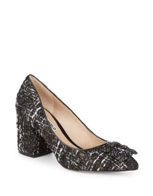 Adona Embellished Tweed Pump by Karl Lagerfeld Paris