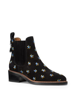 Bowery Suede Chelsea Boots by COACH