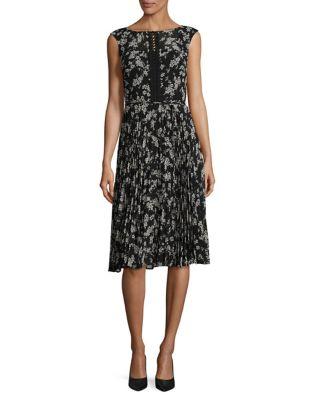 Floral Sleeveless Knee-Length Dress by Gabby Skye