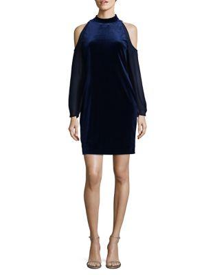 Cold-Shoulder Velvet Dress by Cynthia Steffe