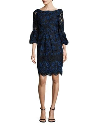 Corded Lace Bell Sleeve Dress by Laundry by Shelli Segal