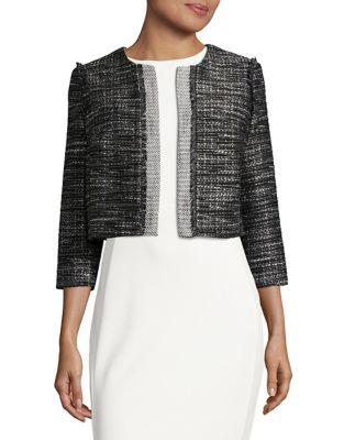 Cropped Tweed Blazer by Karl Lagerfeld Paris