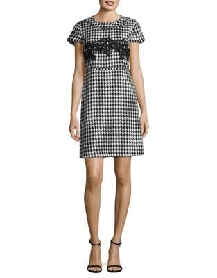 Houndstooth Sheath Dress by Karl Lagerfeld Paris