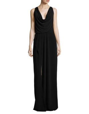 Cowl Neck Column Gown by H Halston