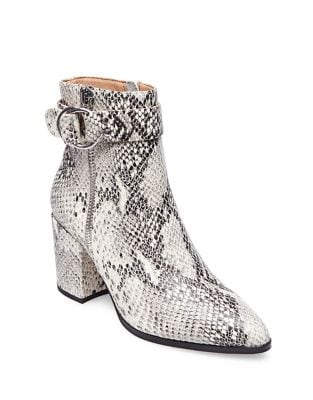 Snake Print Leather Booties by Steven by Steve Madden