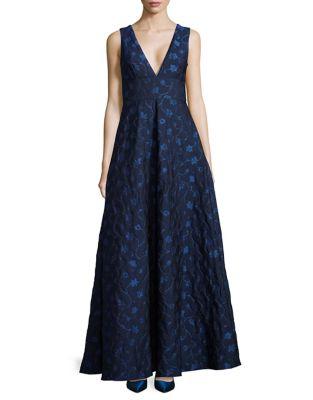 Sleeveless Floor-Length Dress by ML Monique Lhuillier