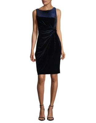 Velvet Sheath Dress by Calvin Klein