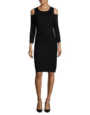 Photo of Cold-Shoulder Sheath Dress by Calvin Klein - shop Calvin Klein dresses sales