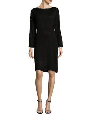 Studded Sheath Sweater Dress by Calvin Klein