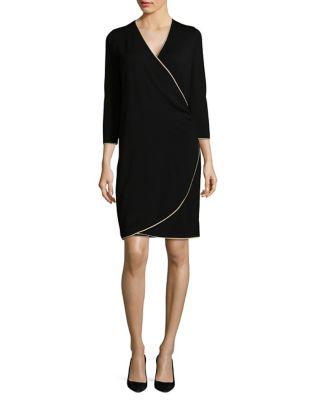 Three-Quarter Sleeve Dress by Calvin Klein