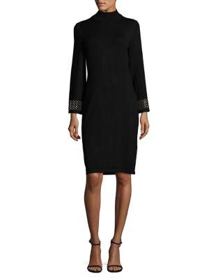 Stud Cuff Sheath Dress by Calvin Klein