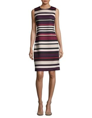 Stripe Sheath Dress by Calvin Klein