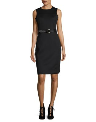 Belted Sheath Dress by Calvin Klein