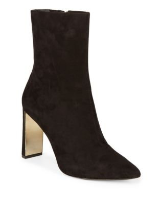Zip Suede Boots by Donna Karan