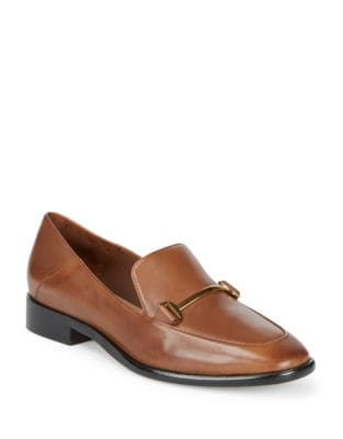 Lois Leather Loafers by Donna Karan
