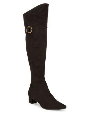 Georganna Suede Knee-High Boots by Calvin Klein