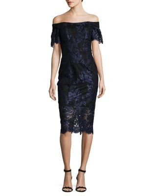 Floral Lace Sheath Dress by Xscape
