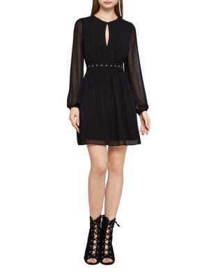 Fit-&-Flare Chiffon Dress by BCBGeneration