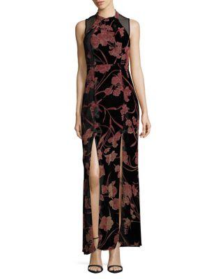 Sheer Yoke Maxi Dress by BCBGeneration