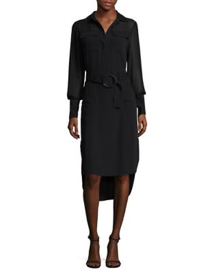 Crepe Military Collared Shirtdress by Laundry by Shelli Segal
