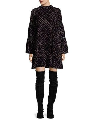 Printed Plaid Shift Dress by Laundry by Shelli Segal