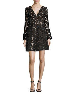 Floral Lace A-Line Dress by ML Monique Lhuillier