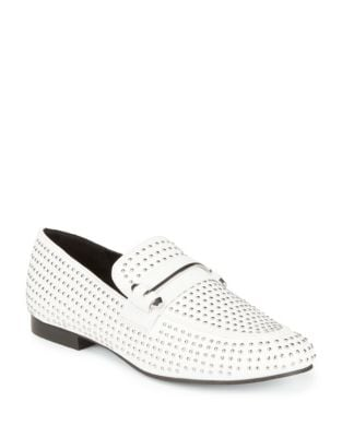 Kast Leather Stud Loafers by Steve Madden