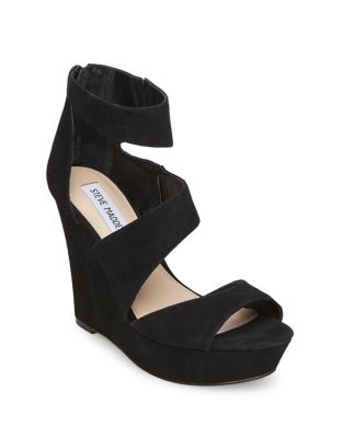 Essex Suede Wedge Sandals by Steve Madden