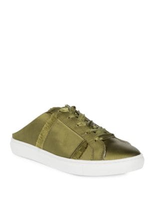 Photo of Naples Distressed Satin Sneakers by Free People - shop Free People shoes sales