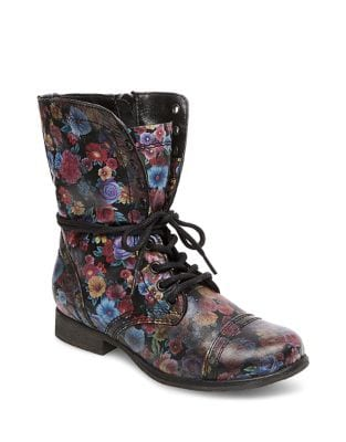 Troopa Leather Boots by Steve Madden