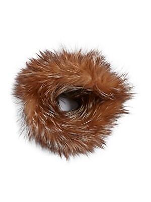 Adrienne Landau - Knit Fox Fur Headband - lordandtaylor.com 48632070233