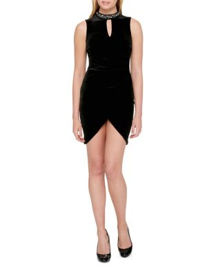 Keyhole Velvet Dress by Guess