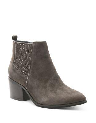 Photo of Suede Ankle Boots by Kensie - shop Kensie shoes sales