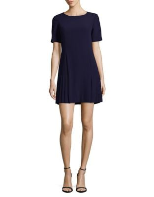 Petite Midnight Pleated Dress by Tahari Arthur S. Levine
