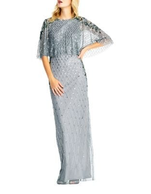 Beaded Floor-Length Gown by Adrianna Papell