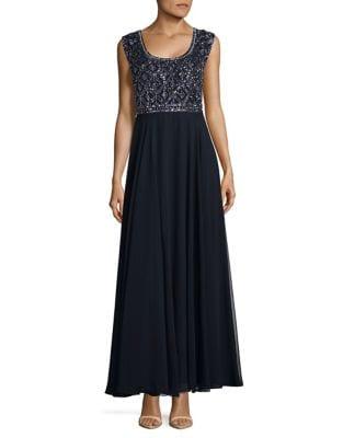 Embedded Formal Gown by J Kara