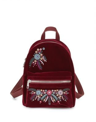 Embroidered Velvet Backpack...