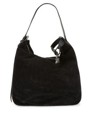Suede Shoulder Bag @...