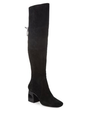 Suede Knee-High Boots by H Halston