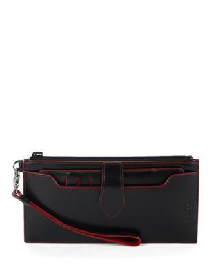 Queenie Leather Wristlet...