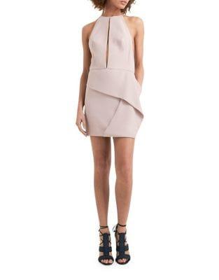 Cutout Front Bodycon Dress by AQ/AQ
