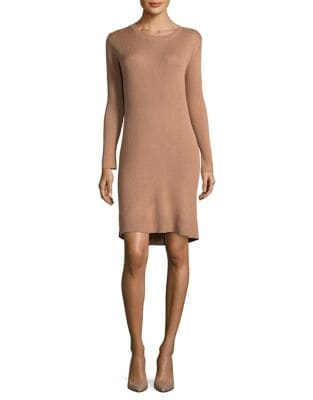 Ribbed Sweater Dress by Paper Crown