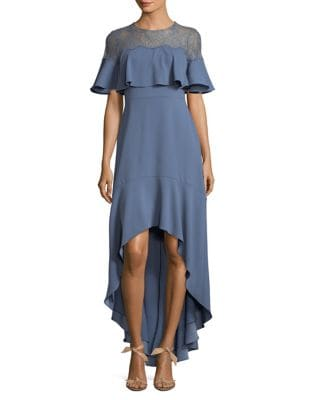 Barbara Hi-Lo Ruffle Gown by BCBGMAXAZRIA